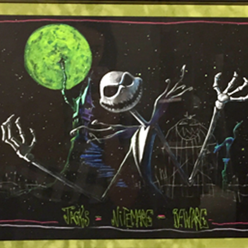 Tim Burton Nightmare Before Christmas Artwork.Tim Burton Nightmare Before Christmas Cmk Art